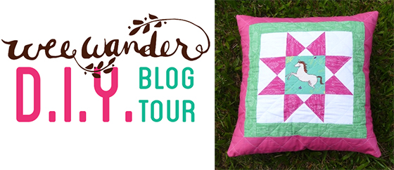 blog tour horse pillow