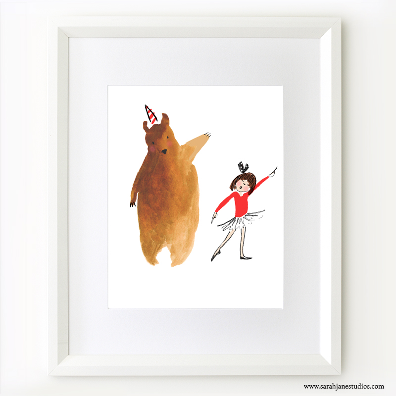 dancing bear framed