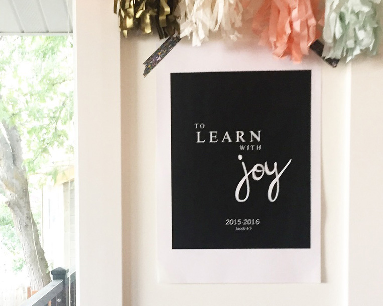 TO LEARN WITH JOY