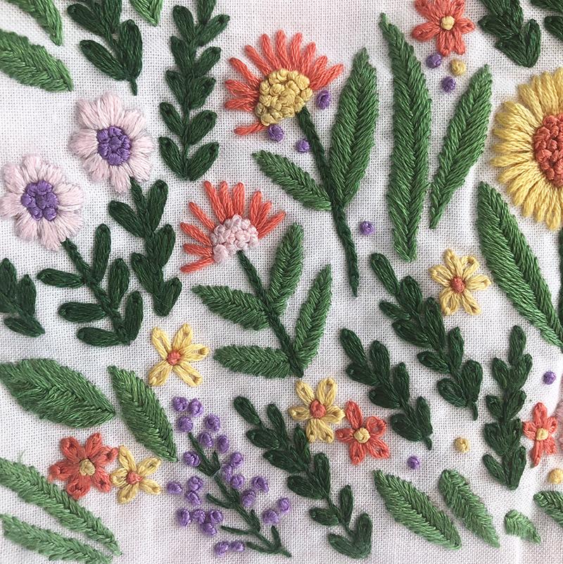 Firefly Garden PDF Embroidery Pattern by Sarah Jane
