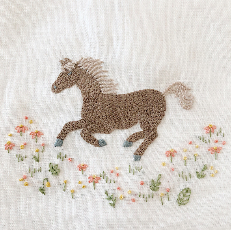 Wild Horse PDF Embroidery Pattern by Sarah Jane