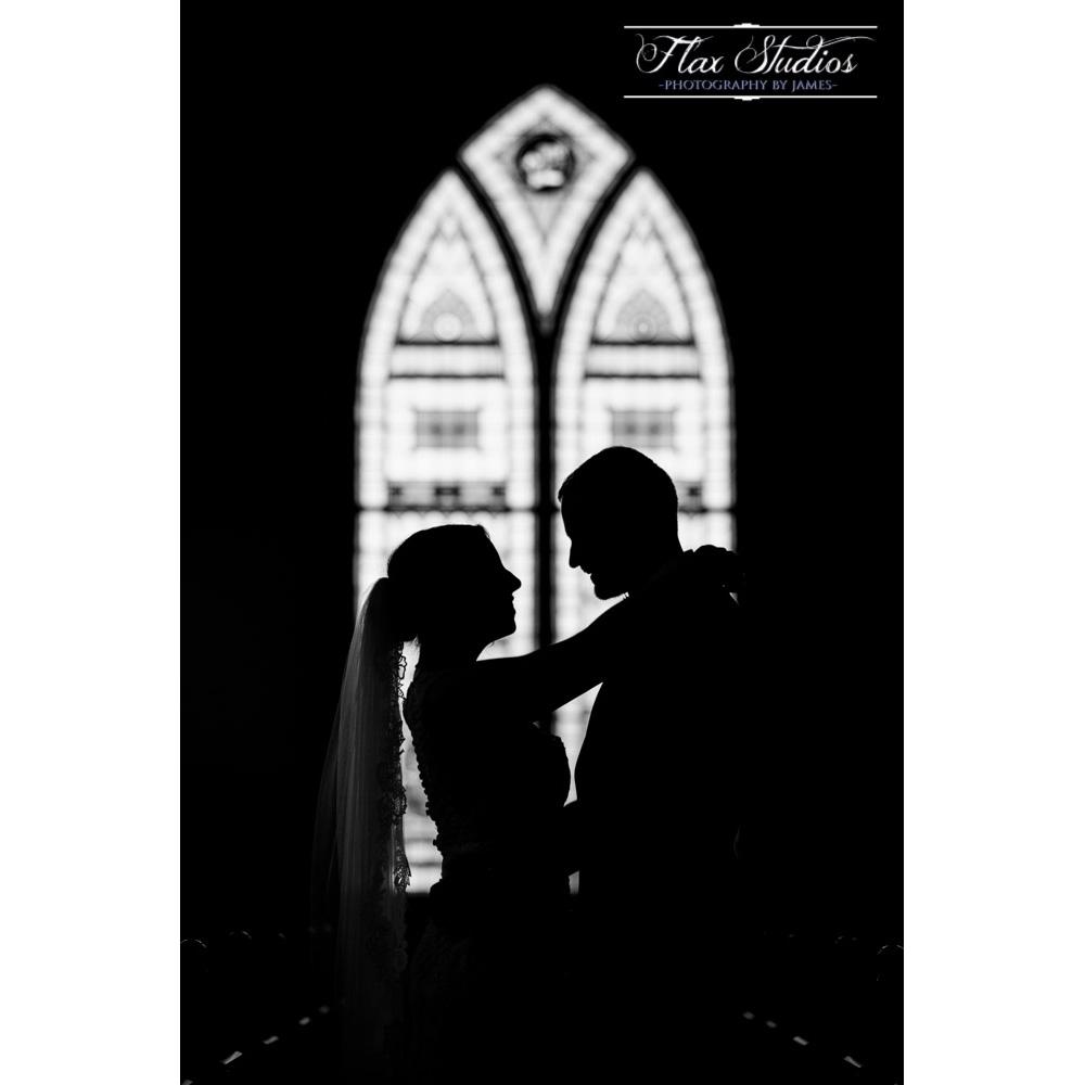 Silhouette Wedding Portrait