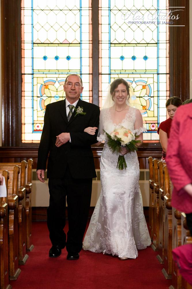 Bride Walking Down The Aisle