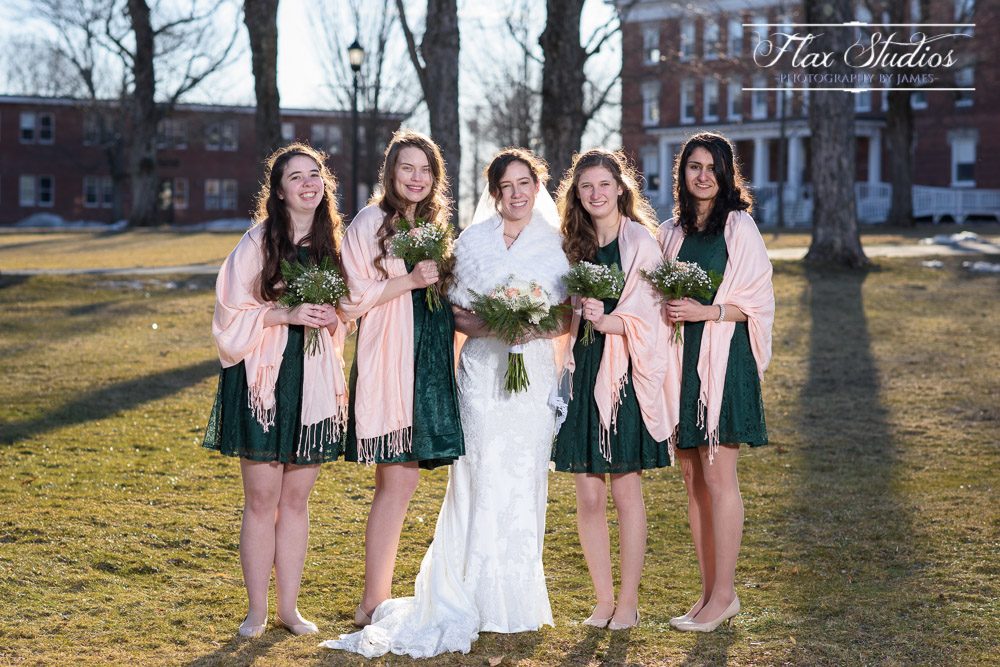 Bridesmaids Bangor Maine Wedding