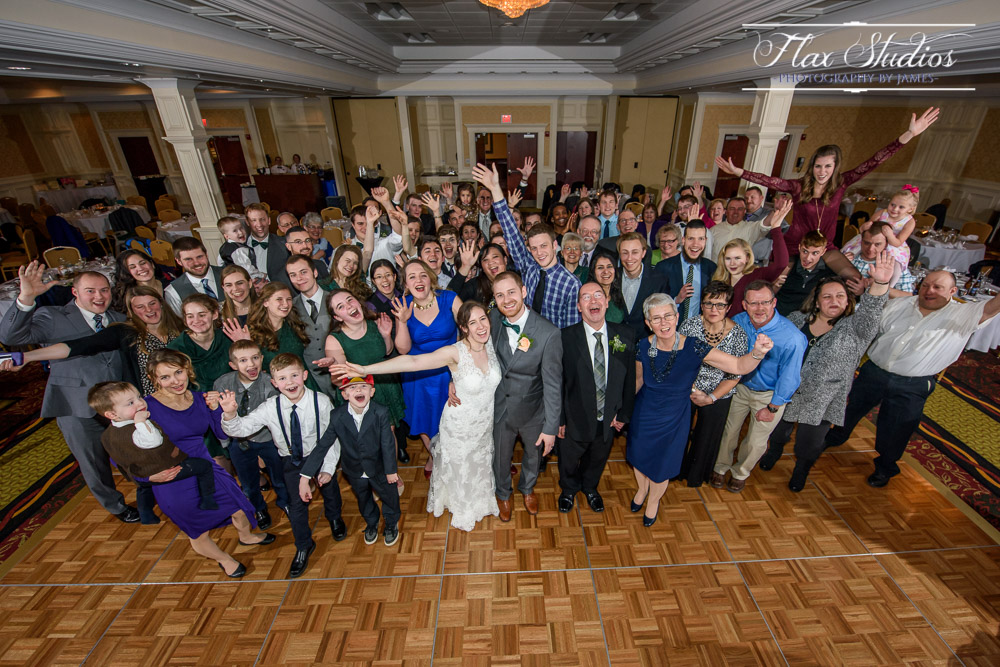 Wedding Group Shot Flax Studios