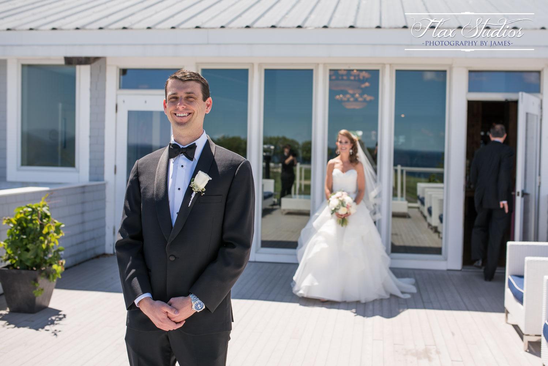 First Look Samoset Wedding