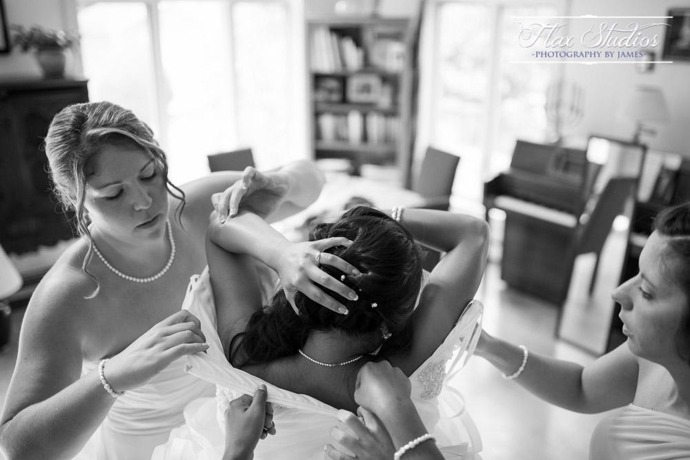 Bride Wedding Dress Flax Studios Maine Weddings
