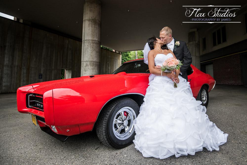 Vintage Pontiac GTO Wedding Photo Flax Studios