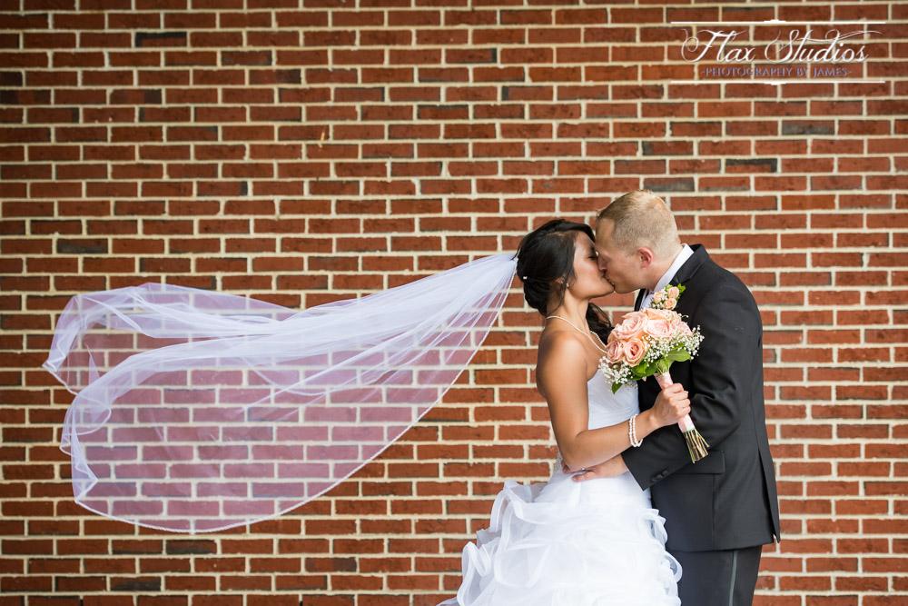 Bridal Veil In The Wind Flax Studios Maine Weddings