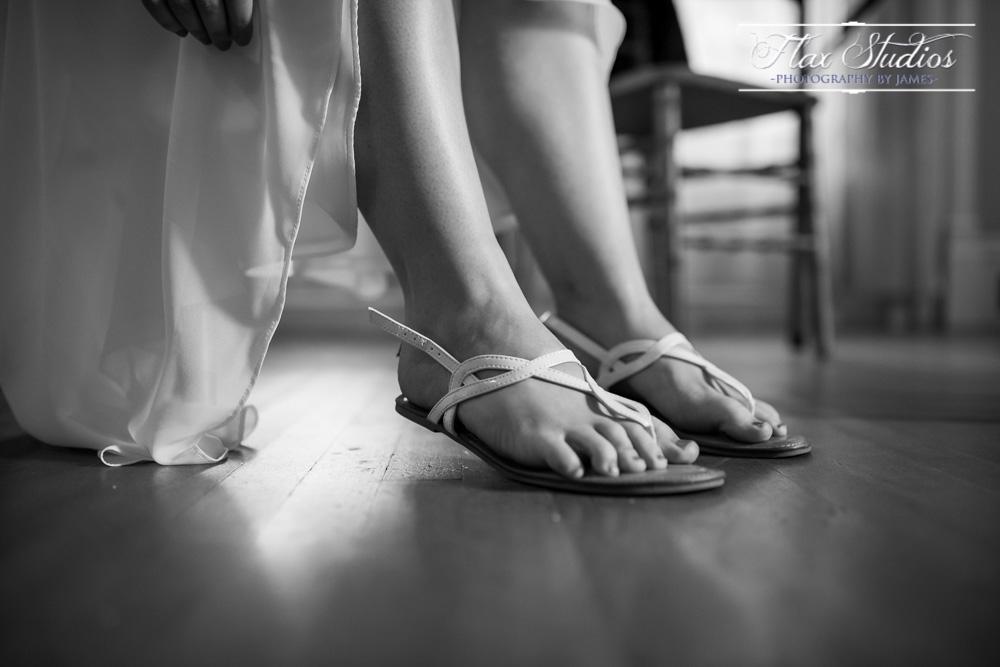 Bride wedding sandals