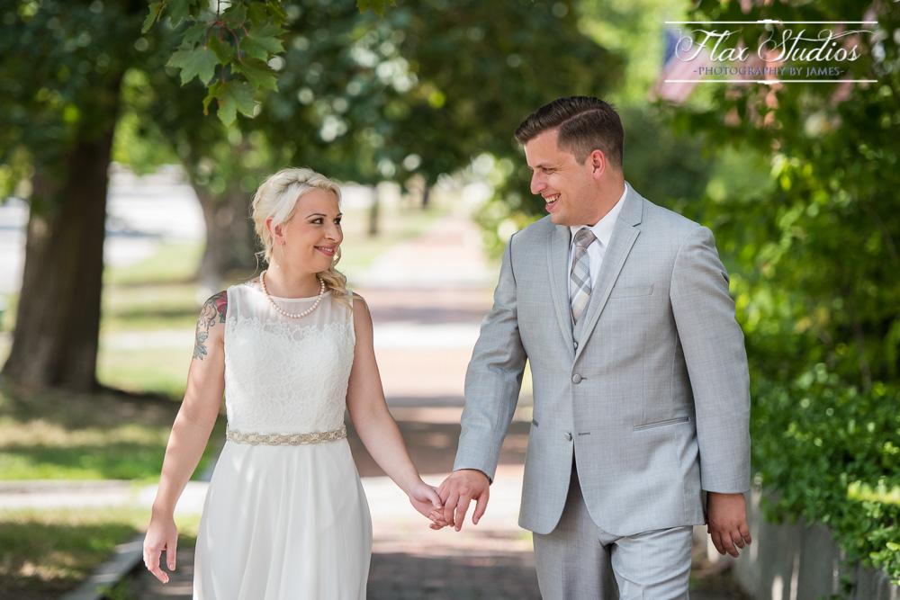 Bride and groom in Concord New Hampsire