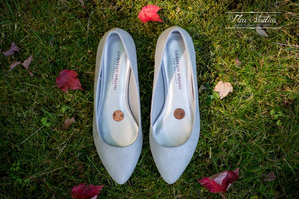 Bridal shoes something borrowed
