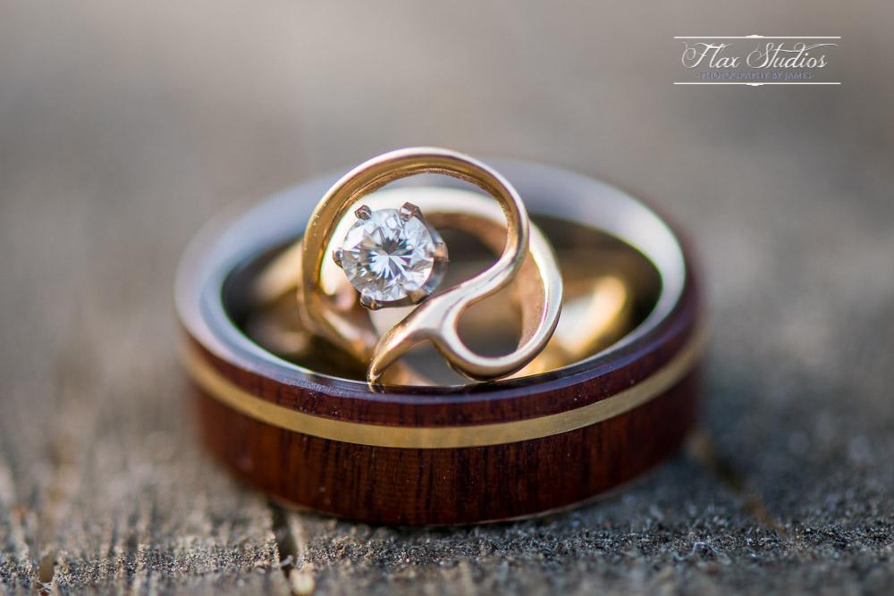 Wedding ring detail photos