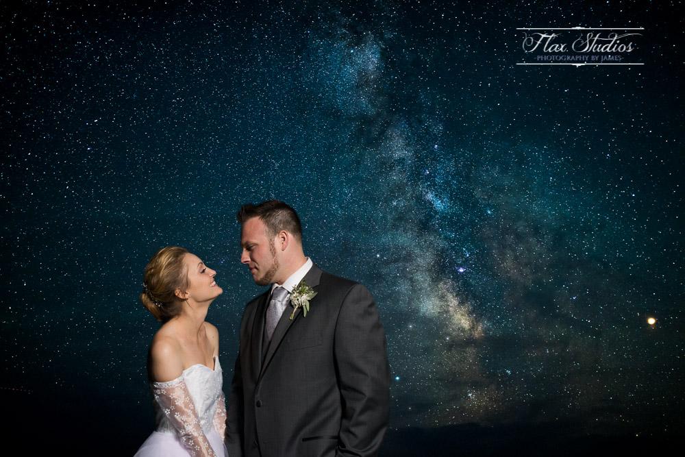 Astrophotography portraits Flax Studios Blue Hill Maine Wedding Photographer