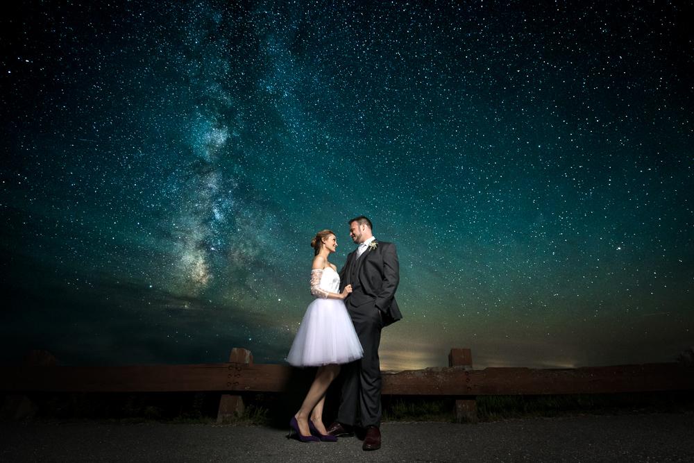 Blue Hill Maine Wedding Photographer Flax Studios Astrophotography portraits
