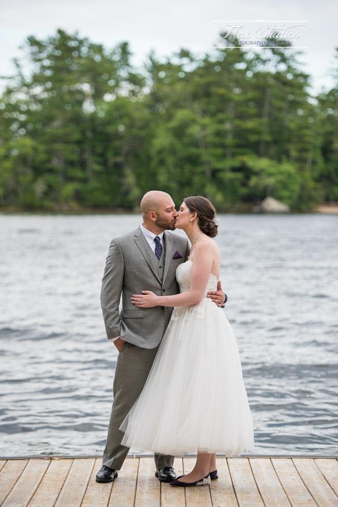Bride and Groom dock photo