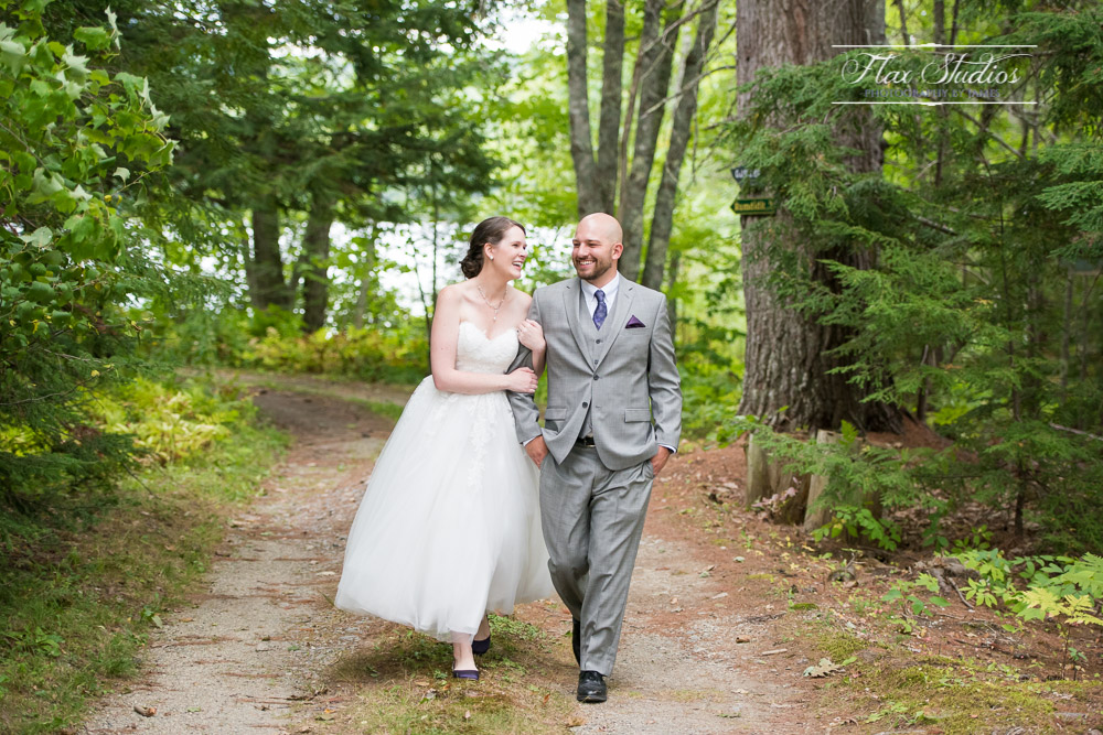 Happy Couple Walking in the woods