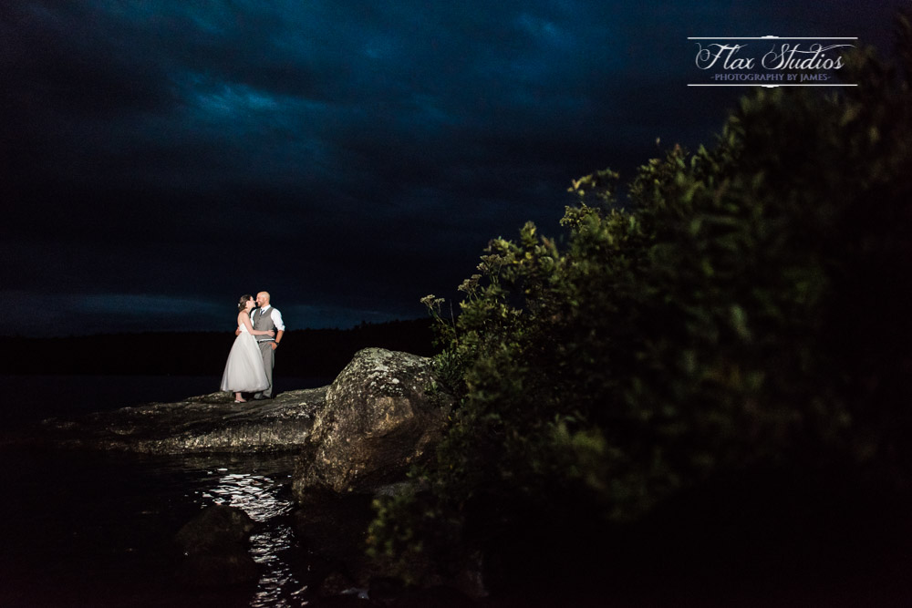 Creative off camera flash wedding lighting