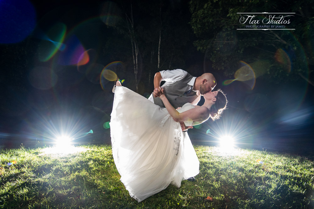 Dramatic Wedding Portrait Lighting Flax Studios Orland, ME