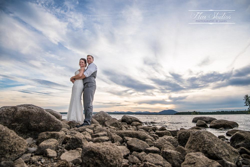 Scenic Maine Sunset Wedding Images