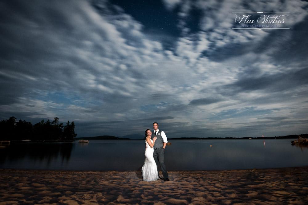 Nighttime wedding photo ideas Flax Studios