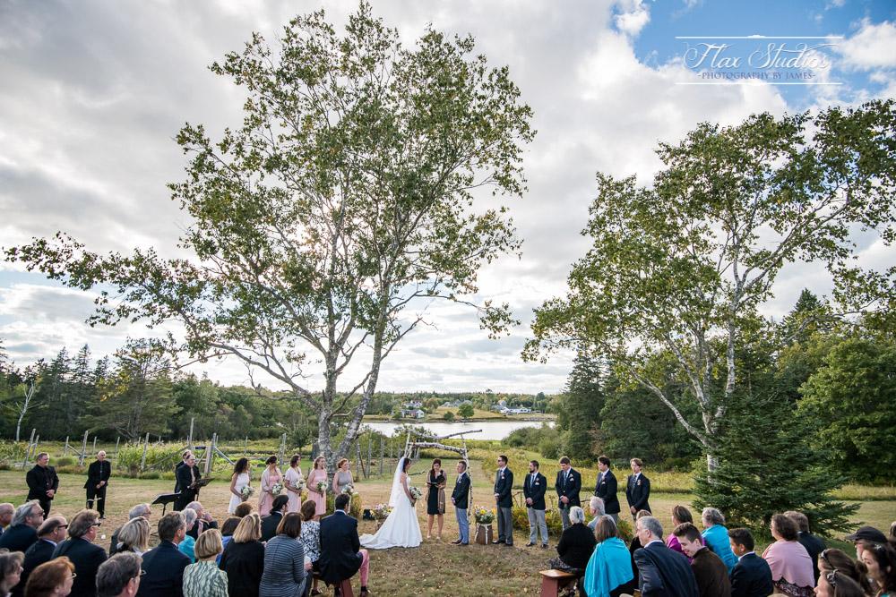 Wedding ceremony Blueberry Cove Tenants Harbor