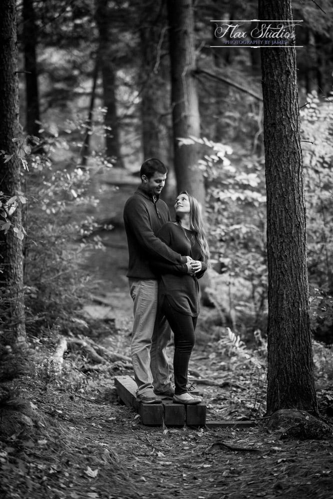 Woodland Engagement Photos
