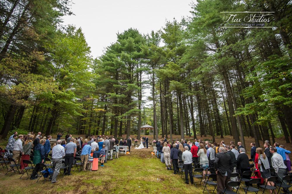 Ultra wide lens wedding ceremony photos