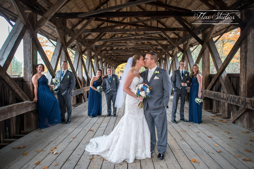 Wedding Party Photos Newry Covered Bridge Sunday River