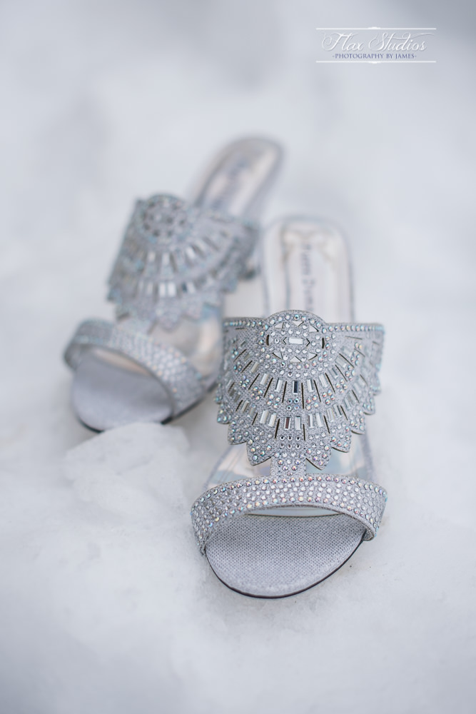 Wedding Shoes in the snow