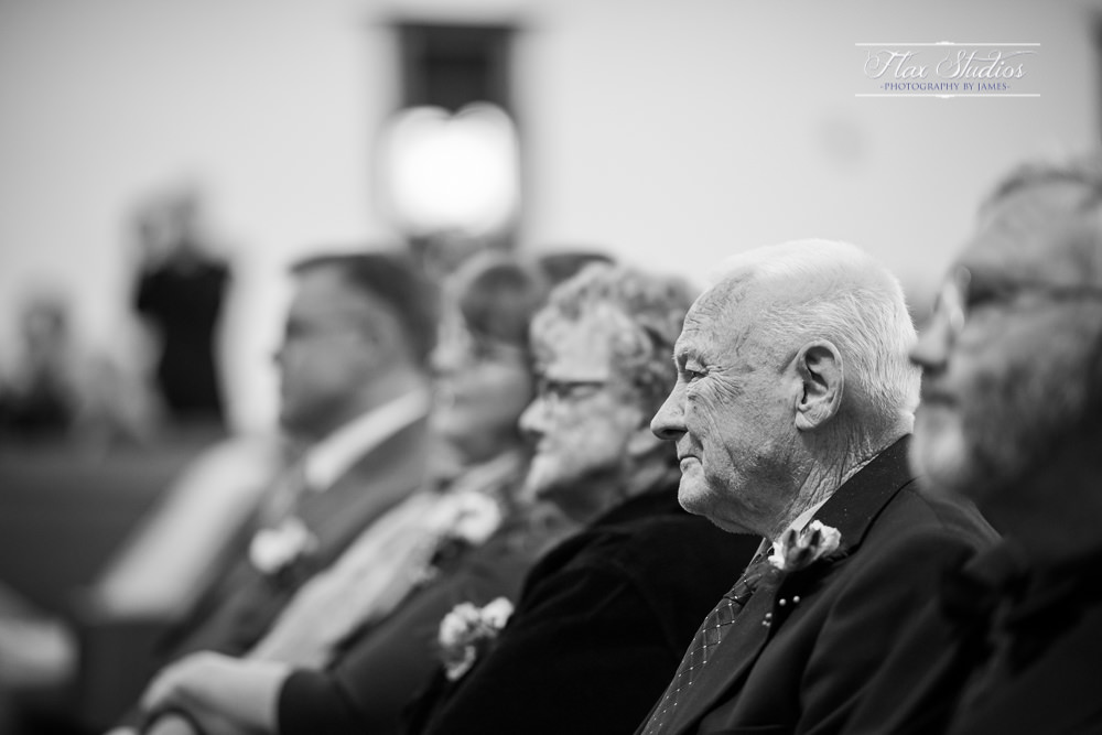 grandfather watching the wedding vows
