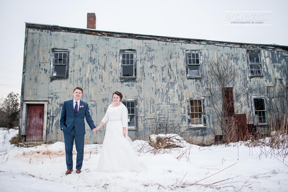 Rustic run down building wedding photo ideas