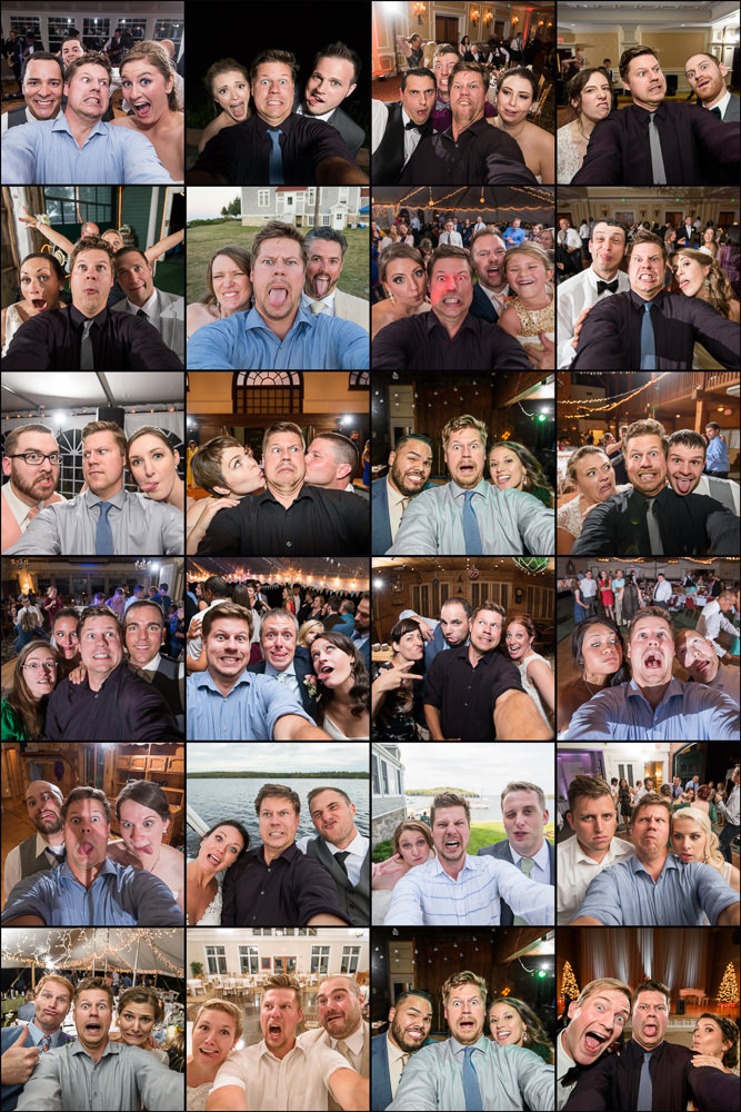 ^^^ In 2014, I started this fun concept of doing goofy selfies with my couples at the end of the day. After a few seasons, I have a ton more than I show here. I KNOW you want to be a part of what this collage will someday be!