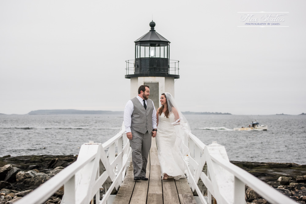 Maine lighthouse weddings flax studios