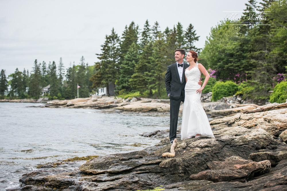 Ocean view at Spruce Point Inn Wedding
