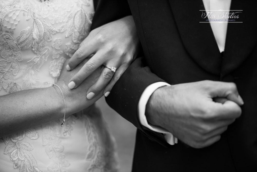 close up intimate wedding photo
