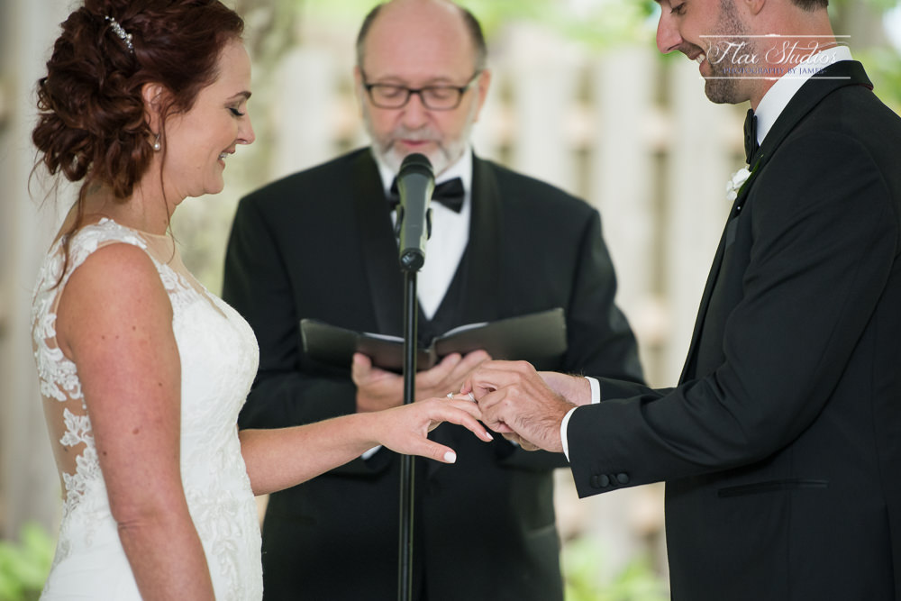 putting the wedding rings