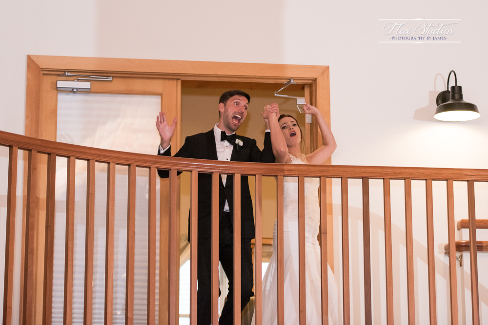 Bride and grooms entrace