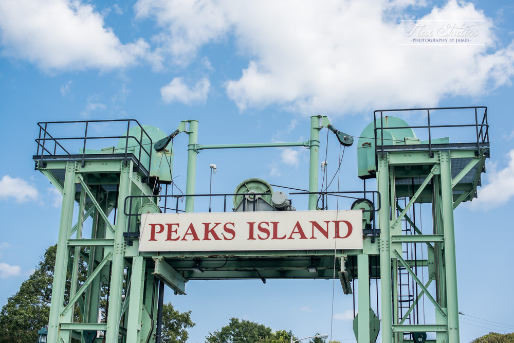 arriving on peaks island maine