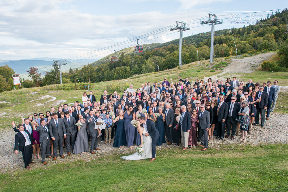 Large Group Photo with all of the wedding guests