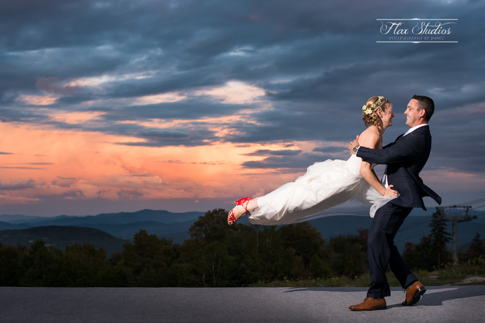 Epic first dance wedding photos flax studios Sunday River