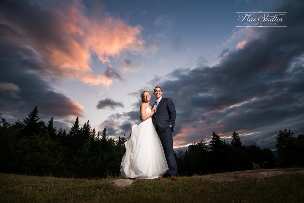 Sunday River North Peak Lodge Sunset Wedding