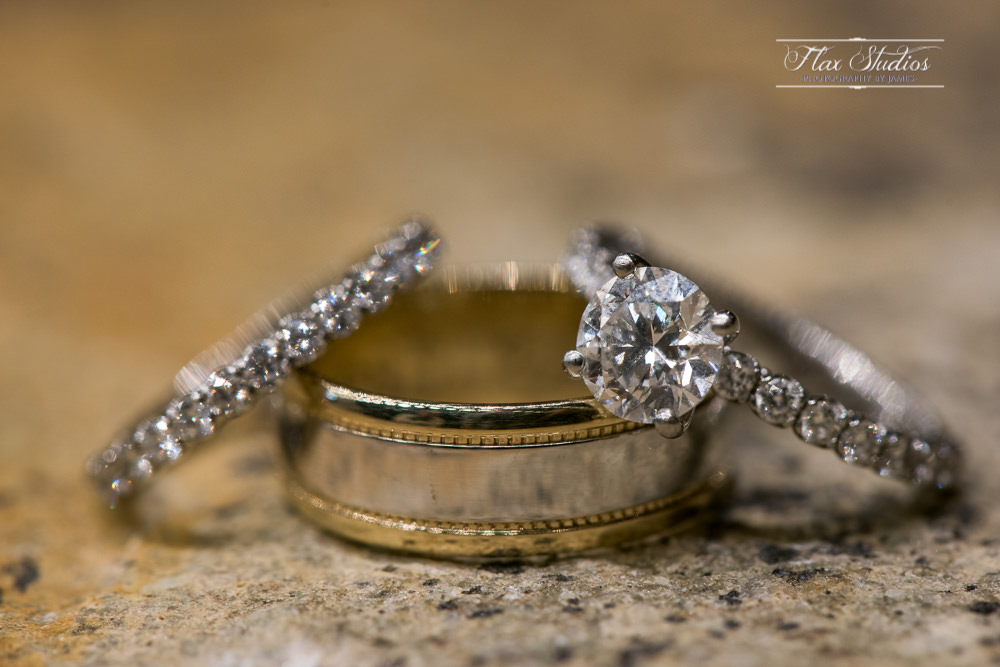 Wedding rings macro shot