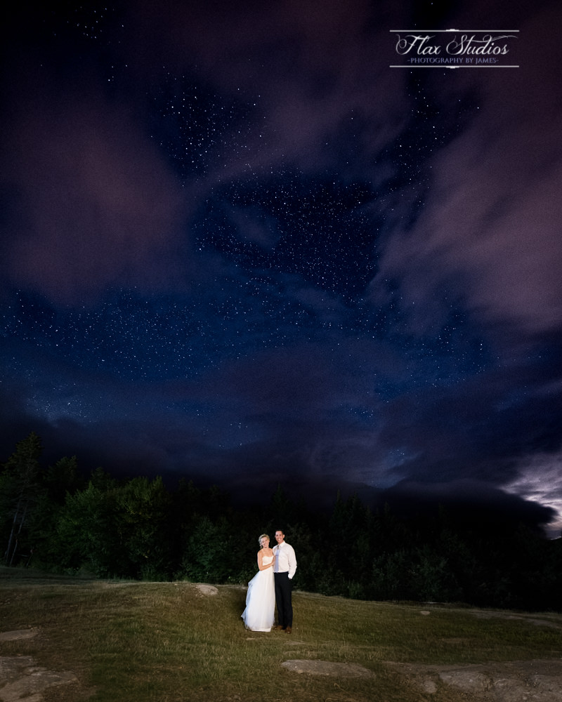 Sunday River Wedding Astrophotography Portrait Flax Studios