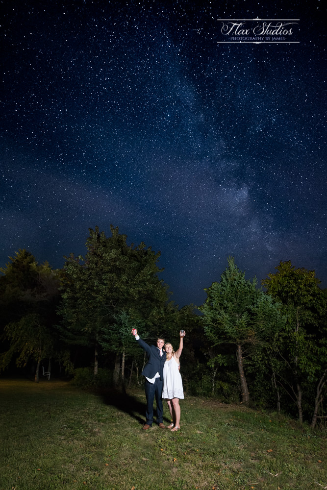 Maine Wedding Astrophotography Flax Studios
