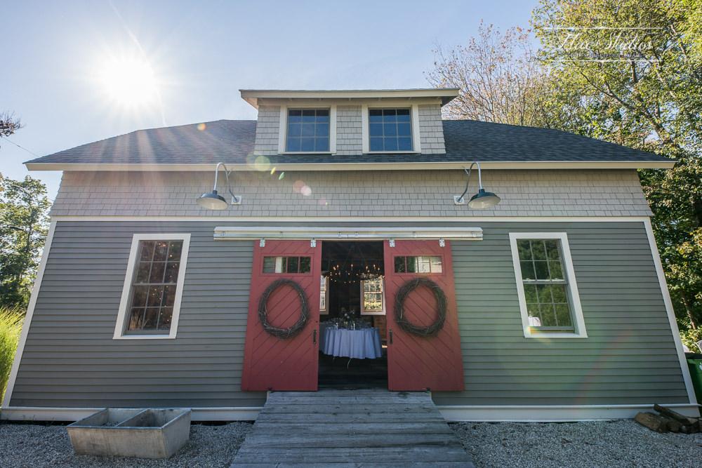 Maine Beach Barn Wedding Flax Studios