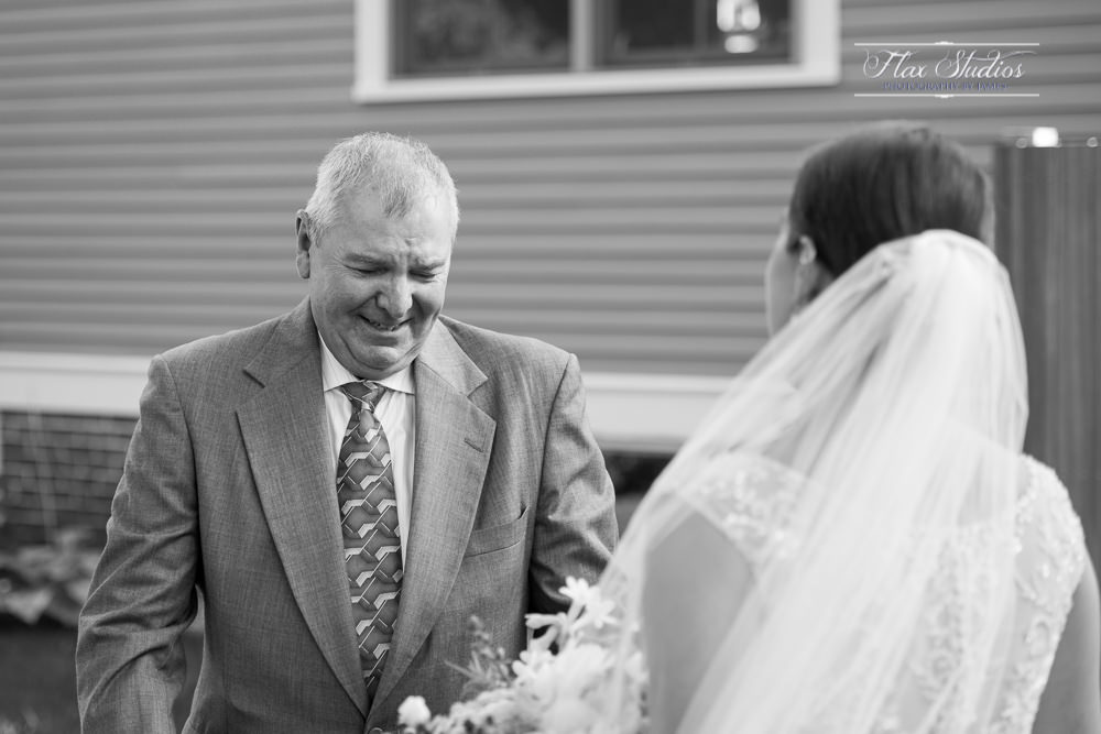 dad tearing up seeing his daughter for the first time