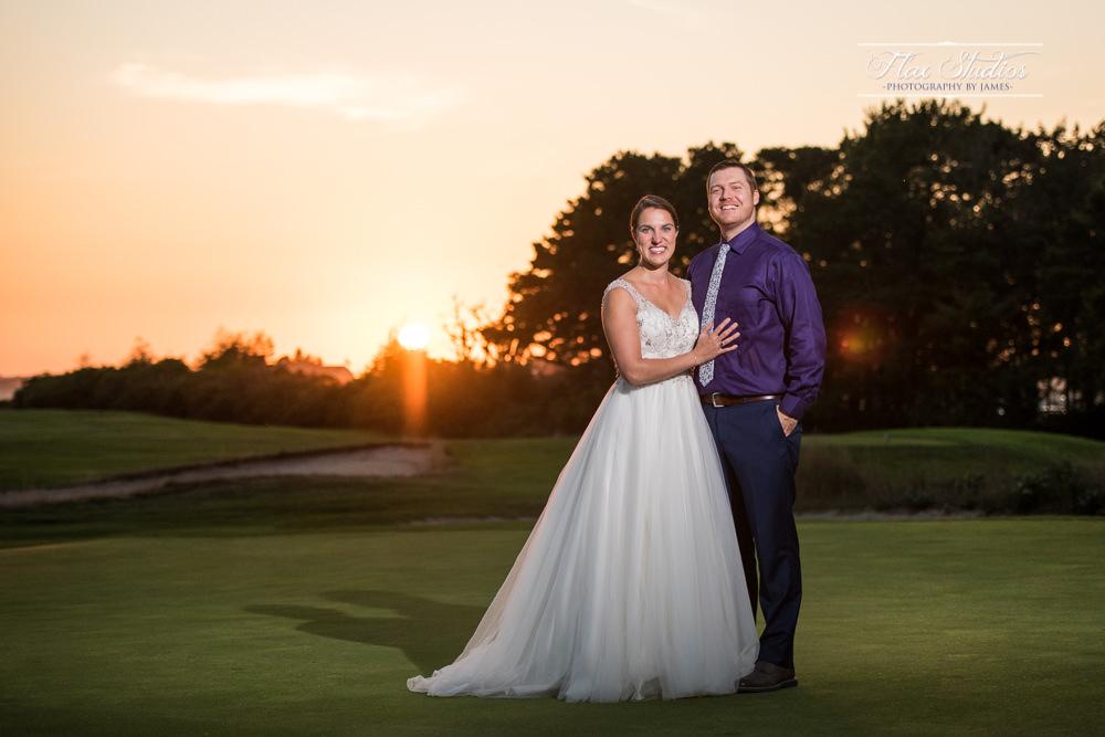 Ferry Beach Sunset Wedding Photos Flax Studios