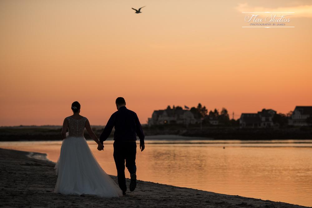 A long walk on the beach after sunset