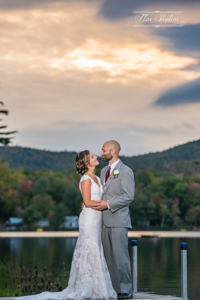 barn at worthley pond sunset wedding photos